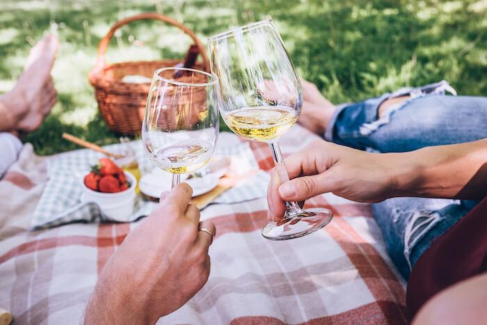 ピクニック・白ワイン
