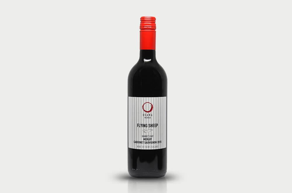 大沢ワインズ フライングシープ メルロー カベルネ・ソーヴィニヨン2015