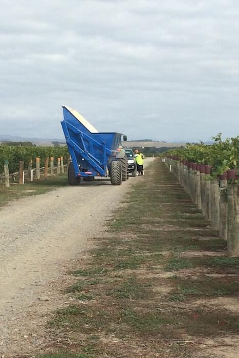 ワイン畑のバケツマシーン