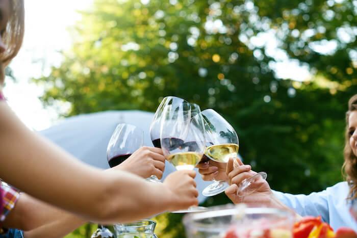 ワイン乾杯