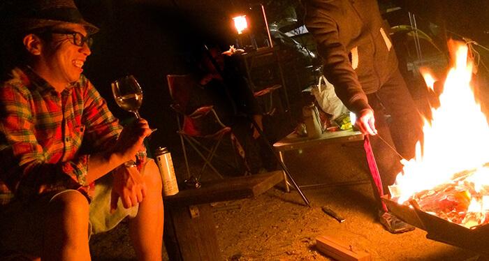岩須ファミリー焚き火