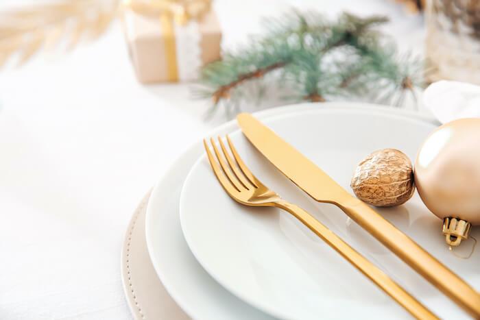 クリスマス、お皿