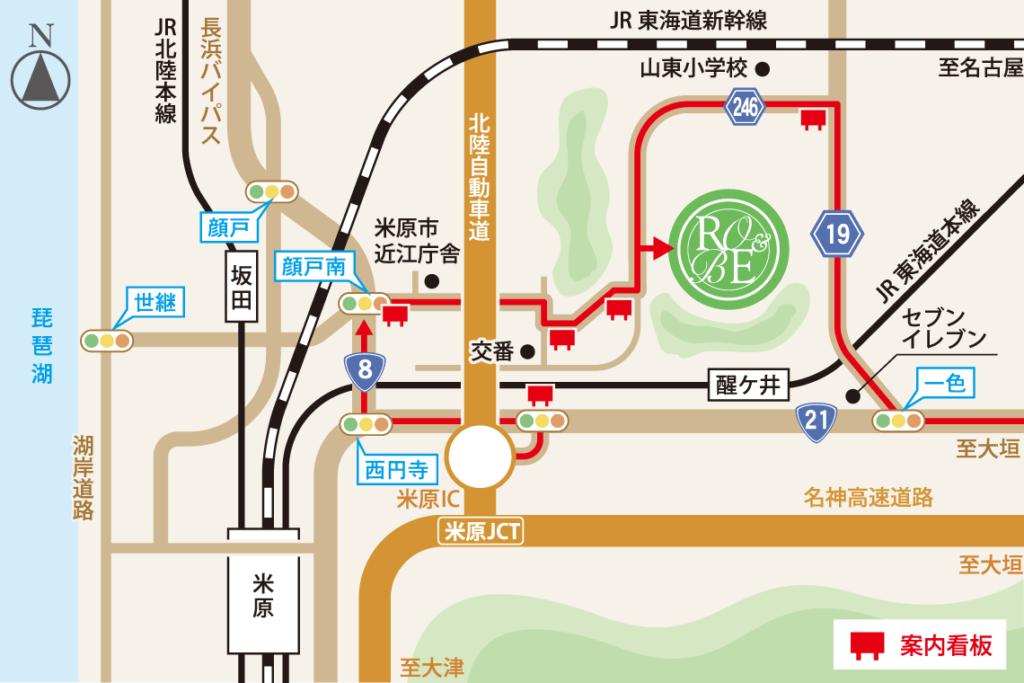 ローザンベリー多和田のアクセスマップ