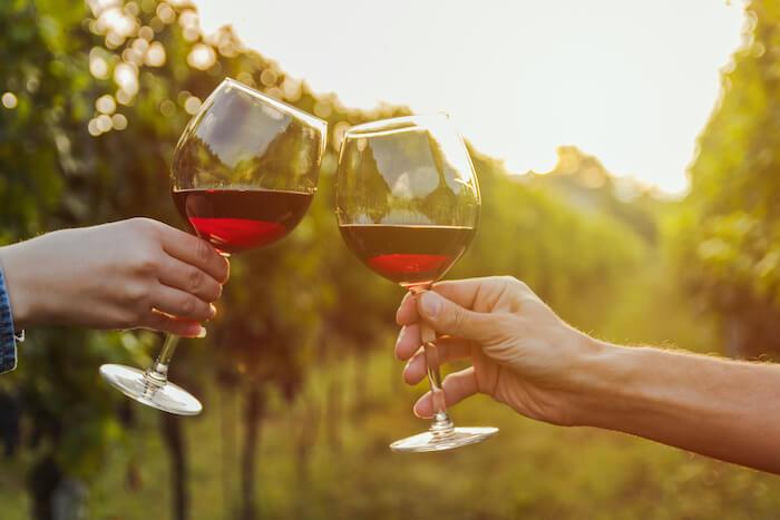 (赤)ワイン乾杯